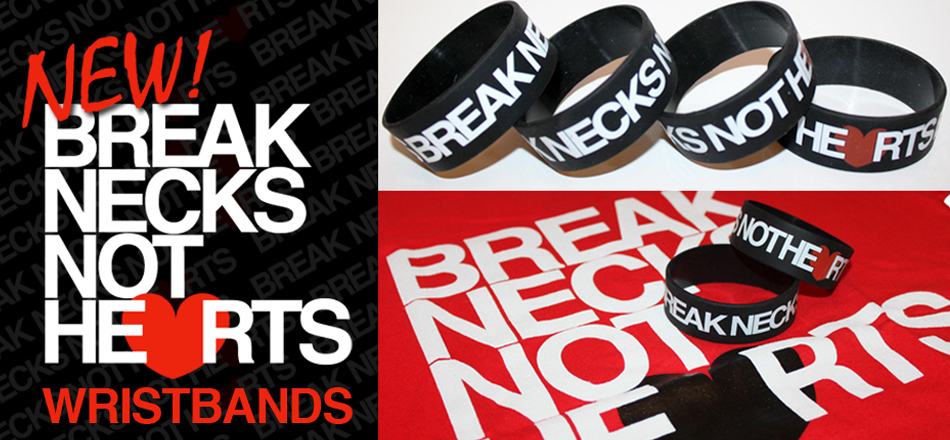 AiReal Apparel Streetwear Fashion Break Necks Not Hearts Tee Shirt